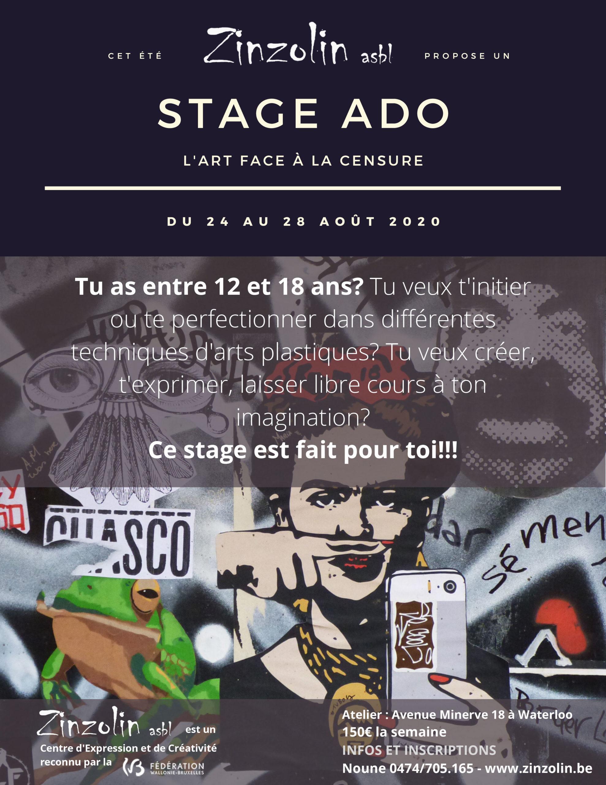 stage ado créatif waterloo